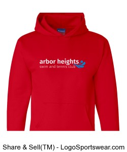 Red Arbor Heights Splash Adult Hoodie Design Zoom