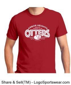 Red Otter Adult T-Shirt Design Zoom