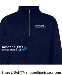 Navy Arbor Heights Splash Qtr Zip Sweatshirt Design Zoom