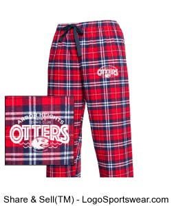 Youth Otter Flannel Lounge Pants Design Zoom