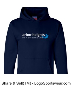 Navy Arbor Heights Splash Adult Hoodie Design Zoom