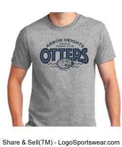 Grey Otter Adult T-Shirt Design Zoom
