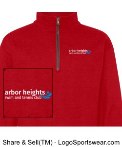 Red Arbor Heights Splash Qtr Zip Sweatshirt Design Zoom