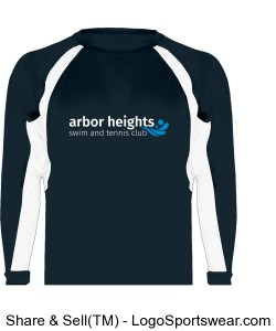 Navy Arbor Heights Splash Performance Long Sleeve Design Zoom