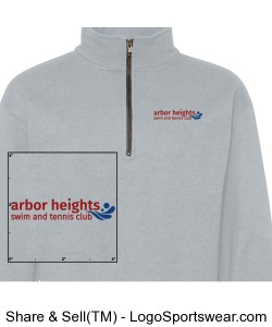 Gray Arbor Heights Splash Qtr Zip Sweatshirt Design Zoom